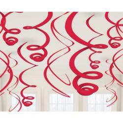 balony, balony na hel, dekoracje balonowe, balony Łódź, balony z nadrukiem, Spirala 55,8 cm czerwony 12szt.
