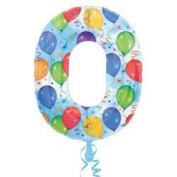 "Balon, foliowy ""0"" multikolor"