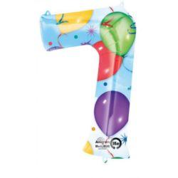 """Balon, foliowy Cyfra """"7"""" multikolor 58x88 cm"""