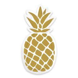 Talerzy Pineapple Vibes 18cm 6szt.