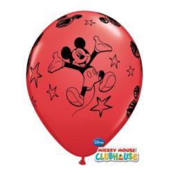 """Balon QL 11"""" z nadr.""""Mickey"""" pastel czerwony"""