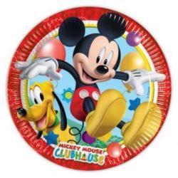 Talerzyki papierowe - Playful Mickey,23 cm,8 szt.