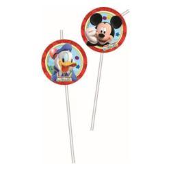 "Rurki(słomki) z medaloinem ""Playful Mickey"""