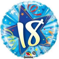 """Balon, foliowy 18"""" QL CIR """"18"""", niebieski"""