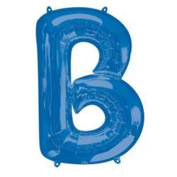 """Balon foliowy Litera """"B"""" niebieski, 58x86 cm"""
