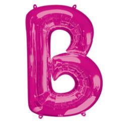 """Balon foliowy Litera """"B"""" różowy, 58x86 cm"""