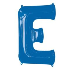 """Balon foliowy Litera """"E"""" niebieski, 53x81 cm"""