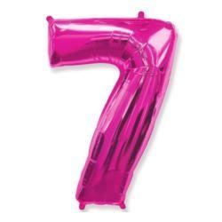 """Balon foliowy FX - """"Number 7"""" różowy, 95 cm"""