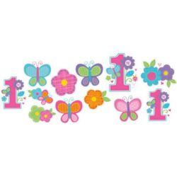 """Dekoracja papierowa na """"1"""" urodziny dziewczynki"""