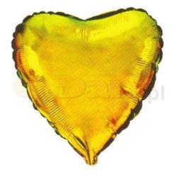 """Balon, foliowy JUMBO FX - """"Serc""""(złote)"""