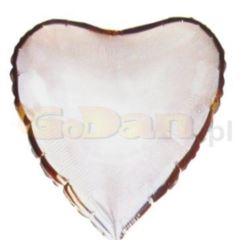 "Balon, foliowy JUMBO FX - ""Serce"" (srebrne)"