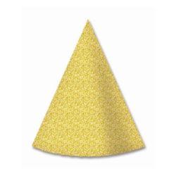 Czapeczki papierowe, 6 szt złote