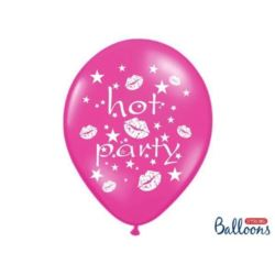 Balony 30 cm, Hot party,Metalic Hot Pink, 6 szt.