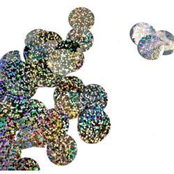 Konfetti do balonów holo - srebrny 50 g