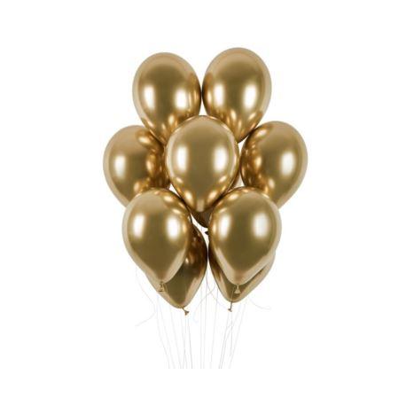"""balony, balony na hel, dekoracje balonowe, balony Łódź, balony z nadrukiem Balony GB120 shiny 13"""" - złote 10 szt."""