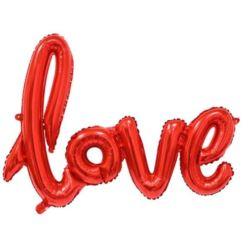 """balony, balony na hel, dekoracje balonowe, balony Łódź, balony z nadrukiem, Balon foliowy 22"""" """"Love"""" - czerwony"""