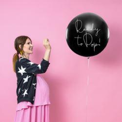 balony, balony na hel, dekoracje balonowe, balony Łódź, balony z nadrukiem, Balon Gender Reveal - Dziewczynka 1 m
