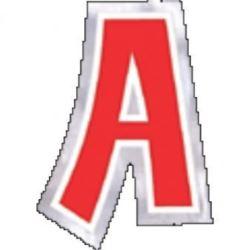 """Naklejka Litera """"A"""" wysokość 58mm"""