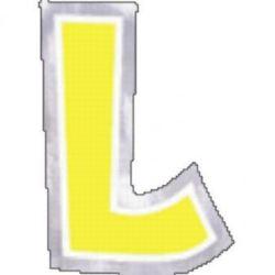 """Naklejka Litera """"L"""" wysokość 58mm"""