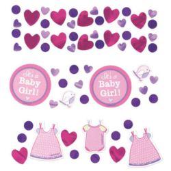 balony, balony na hel, dekoracje balonowe, balony Łódź, balony z nadrukiem, Konfetti Baby Shower Dziewczynka 35 g