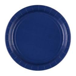 Talerze 17,7 cm - niebieskie 8 szt.