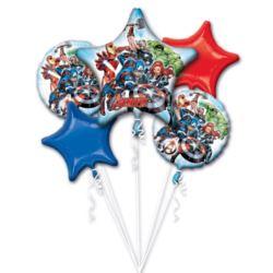 """Bukiet balonow """"Avengers"""", 5 balonow foliowych, P"""