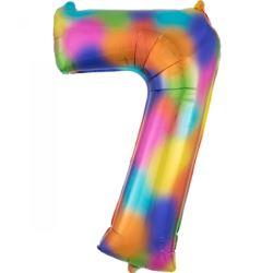 "SuperShape ""7"" Rainbow Splash, balon foliowy L34,"