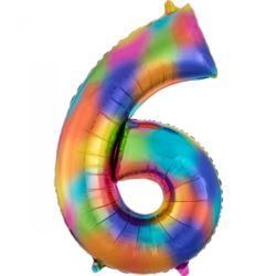 "SuperShape ""6"" Rainbow Splash, balon foliowy L34,"