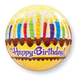 """Balon, foliowy 22"""" QL Bubble Poj. """"Tort ze świeczk"""