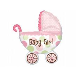 Balon, foliowy SHP Wózek Baby Girl 1 szt.