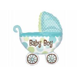 Balon, foliowy SHP Wózek Baby Boy 1 szt.
