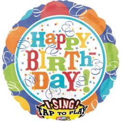 Balon foliowy grający - Happy Birthday 1 szt.