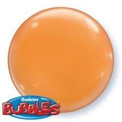 """balony, balony na hel, dekoracje balonowe, balony Łódź, balony z nadrukiem, Balon, foliowy 15"""" QL Bubble Poj. pomarańczowy 4"""