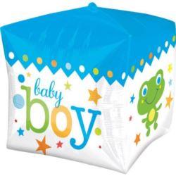 Balon, foliowy kostka Narodziny dziecka - chłopiec