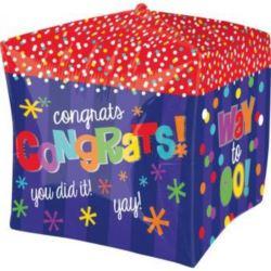 "Balon, foliowy ""Kostka Congratulation"" 38x38 cm"