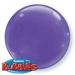 """balony, balony na hel, dekoracje balonowe, balony Łódź, balony z nadrukiem, Balon, foliowy 15"""" QL Bubble Poj. fioletowy 4 szt."""
