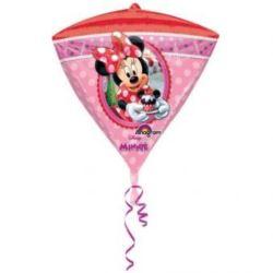 """Balon, foliowy -diament """"Myszka Minnie"""" 38x43 cm"""
