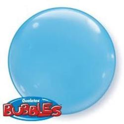 """balony, balony na hel, dekoracje balonowe, balony Łódź, balony z nadrukiem, Balon, foliowy 15"""" QL Bubble Poj. błękitny 4 szt."""