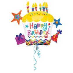 """Balon foliowy """"Babeczka Happy Birthday"""" 71x66 cm"""
