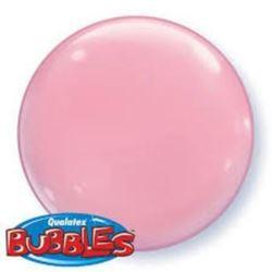 """balony, balony na hel, dekoracje balonowe, balony Łódź, balony z nadrukiem, Balon, foliowy 15"""" QL Bubble Poj. różowy 4 szt."""