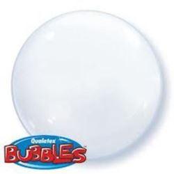 """balony, balony na hel, dekoracje balonowe, balony Łódź, balony z nadrukiem, Balon, foliowy 15"""" QL Bubble Poj. biały 4 szt."""
