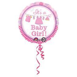 Balon, foliowy Baby Shower dziewczynka 43 cm