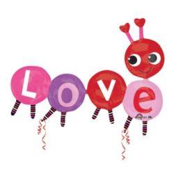 balony, balony na hel, dekoracje balonowe, balony Łódź, balony z nadrukiem, Balon foliowy LOVE 139x106 cm 1 szt.
