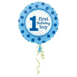 """Balon foliowy """"1 Urodziny chłopczyka"""" 43 cm"""