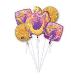 """balony, balony na hel, dekoracje balonowe, balony Łódź, balony z nadrukiem, Bukiet balonów """"Roszpunka"""" 5 szt."""
