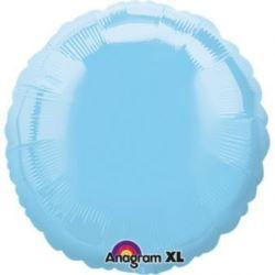 Balon, foliowy met. okrągły - j.niebieski
