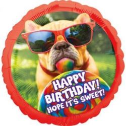"""balony, balony na hel, dekoracje balonowe, balony Łódź, balony z nadrukiem, Balon Foliowy """"Avanti Sweet Birthday"""""""