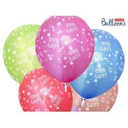 balony, balony na hel, dekoracje balonowe, balony Łódź, balony z nadrukiem, Balony 30 cm Sto lat! Metalic Mix 6 szt.