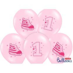 balony, balony na hel, dekoracje balonowe, balony Łódź, balony z nadrukiem, Balony 30 cm,Trampek 1 P.Pink, 6 szt.