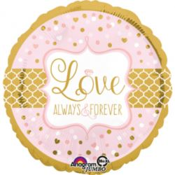 "Balon foliowy jumbo ""Love Always & Forever"""